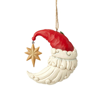 Heartwood Creek Classic - Crescent Moon Santa Hanging Ornament