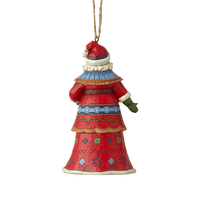 Heartwood Creek Classic - Lapland Santa with Bells Hanging Ornament