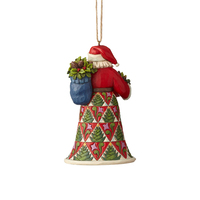 Heartwood Creek Classic - Pinecone Santa with Basket Hanging Ornament