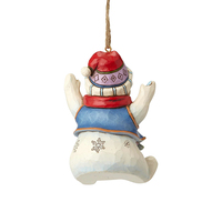 Heartwood Creek Classic - Sitting Snowman Hanging Ornament