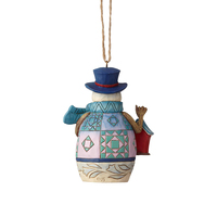Heartwood Creek Classic - Mini Snowman with Birdhouse Hanging Ornament