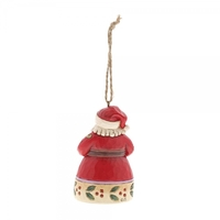 Heartwood Creek Hanging Ornament Collection - Santa with Teapot