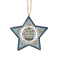 Heartwood Creek Nativity Collection Hanging Ornament - Star Shaped Nativity Ornament
