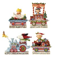 Jim Shore Snoopy - Charlie Brown, Lucy, Sally and Snoopy Deluxe Train (Peanuts Collection)