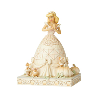 Jim Shore Disney Traditions - Cinderella White Woodland Darling Dreamer Figurine