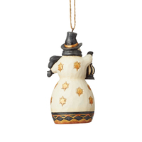 Heartwood Creek Black And Gold - Snowman Hanging Ornament