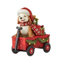 Country Living by Jim Shore - Christmas Dog in Wagon
