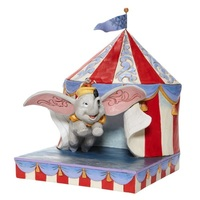 Jim Shore Disney Traditions - Dumbo Flying out of Tent Scene