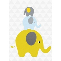 Mini Greeting Card - Elephants