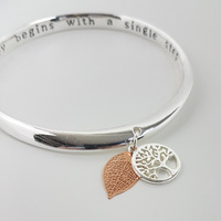 Equilibrium Tree of Life Inspiration Bangle - The Best Thing in Life