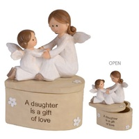 Adoring Angel Trinket Box - Daughter