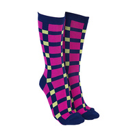 Sock Society - Check Navy/Pink