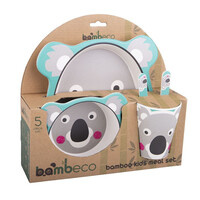 Bambeco Bamboo 5 Piece Kids Meal Set - Koala