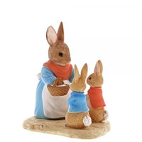 Beatrix Potter Miniature Collection Mrs. Rabbit, Flopsy and Peter