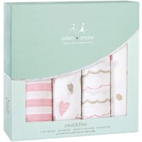 aden & anais Classic Swaddles 4 Pack - Heartbreaker