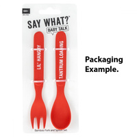 Say What? Bamboo Cutlery Set - Lil Hangry & Tantrum Loading