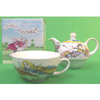Alice In Wonderland Tea For One - Teapot and Teacup - Mad Hatter
