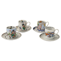 Cardew Design Alice In Wonderland Mad Hatter and Friends Cup & Saucer