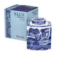 Spode Blue Italian - Tea Caddy