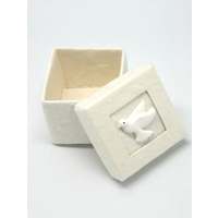 Parchment Trinket Box with Dove