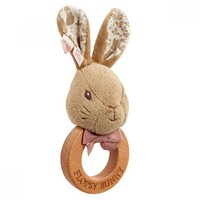 Beatrix Potter Peter Rabbit Signature Collection - Flopsy Bunny Wooden Ring Rattle