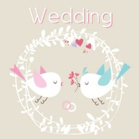 Greeting Card - Wedding Birds
