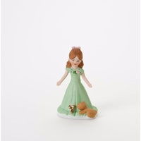 Growing Up Girls - Brunette Age 7 Cake Topper