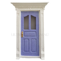 Glitter Fairy Door - Mauve with Light Up LED Window's