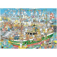 Jan Van Haasteren Puzzle 1000pc - Tall Ship Chaos