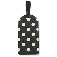 Kate Spade New York Luggage Tag Black & Cream Dots
