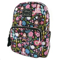 Loungefly Disney Beauty and the Beast - Floral Print Mini Backpack