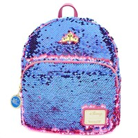 Loungefly Disney Princess - Sleeping Beauty Reversible Sequin Mini Backpack