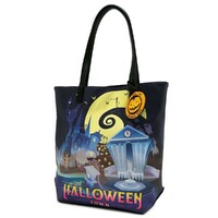 Loungefly Disney The Nightmare Before Christmas - Halloween/Christmas Town Tote Bag