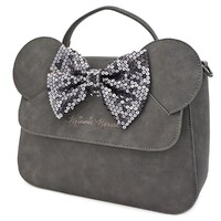 Loungefly Disney Minnie Mouse - Grey Minnie Sequin Bow Crossbody Bag