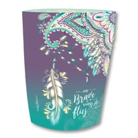Lisa Pollock Paper Lantern - On Brave Wings Feather