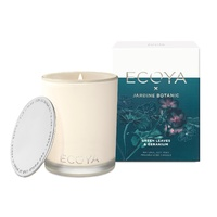 Ecoya Limited Edition Madison Jar Candle - X JARDINE BOTANIC Green Leaves & Geranium