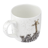 Royal Worcester Wrendale Head and shoulders above the rest Zebra & Giraffe Mug