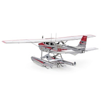Metal Earth - 3D Metal Model Kit - Cessna 182 Floatplane