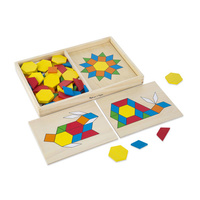 Melissa & Doug Classic Toy - Pattern Blocks and Boards