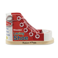Melissa & Doug Skill Builder - Wooden Lacing Sneaker