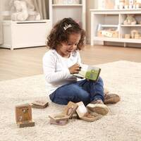 Melissa & Doug Natural Play Book Tower - Little Learning Books