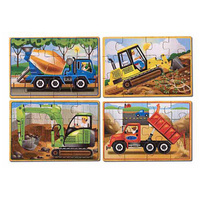 Melissa & Doug Jigsaw Puzzles in a Box - Construction