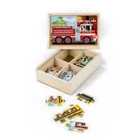 Melissa & Doug Jigsaw Puzzles in a Box - Vehicles