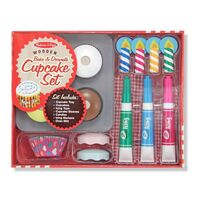 Melissa & Doug Kitchen Play - Bake & Decorate Cupcake Set