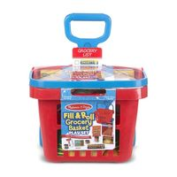 Melissa & Doug Kitchen Play - Fill & Roll Grocery Basket Play Set
