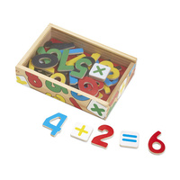 Melissa & Doug Magnetic Learning - 37 Wooden Number Magnets