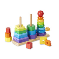 Melissa & Doug Classic Toy - Geometric Stacker