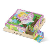 Melissa & Doug Cube Puzzle - Princess & Fairies 16 Pieces