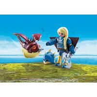 Playmobil How To Train Your Dragon 3 - Astrid with Hobgobbler