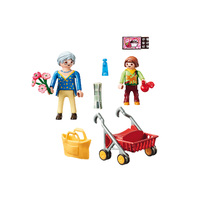 Playmobil City Life - Grandmother with Child
